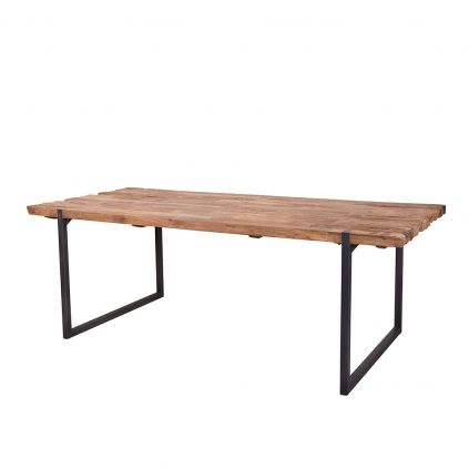 Table teck et métal recyclés URBAN 180cm