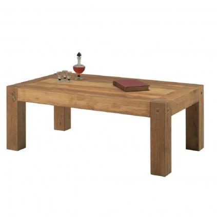 Table basse chêne huilé OAKWOOD 120cm rectangulaire