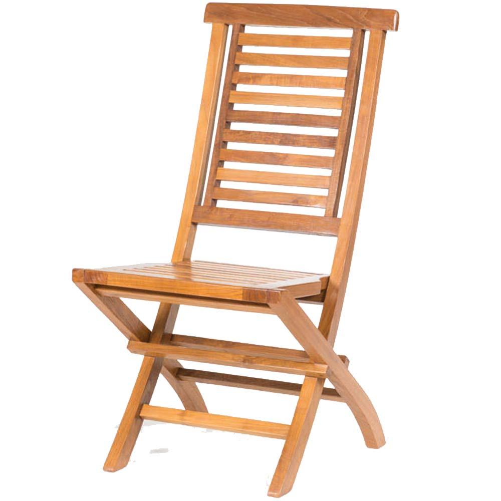 chaise de jardin en teck massif