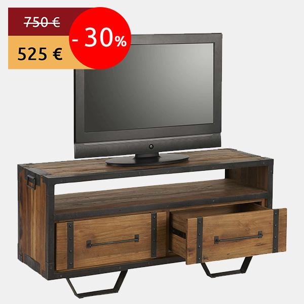 Actu bons plans 30 sur une s l ction de meubles en teck recycl s - Meuble industriel metal pas cher ...