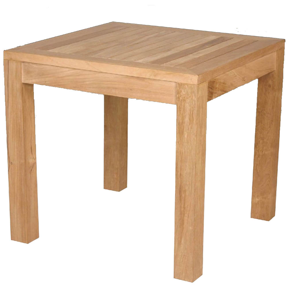 table carrée jardin teck massif