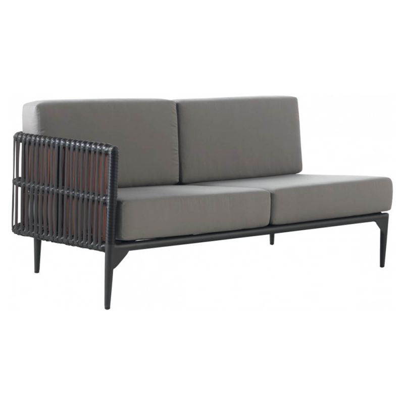 m ridienne ext rieur 2 places 154cm aluminium et r sine. Black Bedroom Furniture Sets. Home Design Ideas