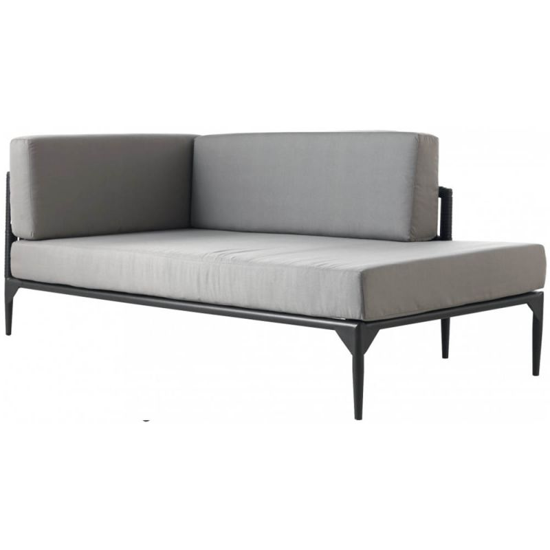m ridienne exterieur gauche jardin 181cm aluminium et r sine. Black Bedroom Furniture Sets. Home Design Ideas