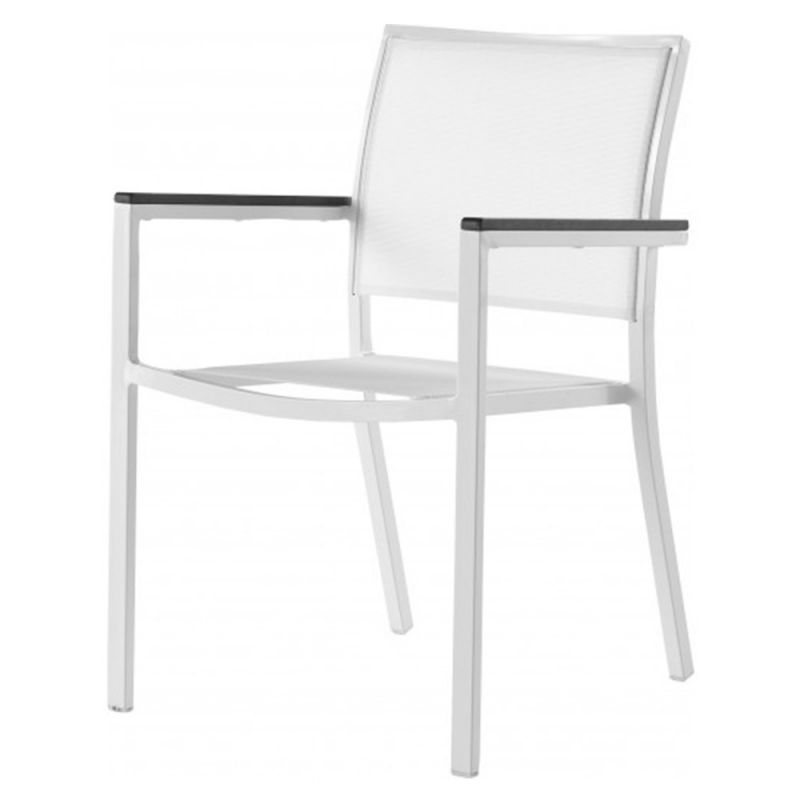 fauteuil de jardin alu blanc et textiiline 60cm. Black Bedroom Furniture Sets. Home Design Ideas