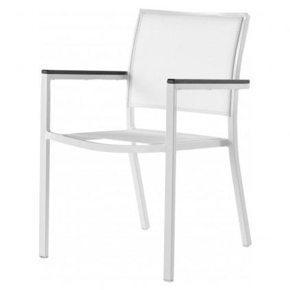 Fauteuil table de jardin aluminium et textilène MONACO 60cm