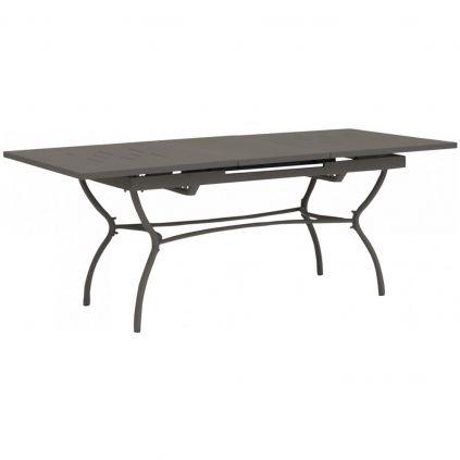 Table extensible fer forgé gris LUBERON 150/200cm