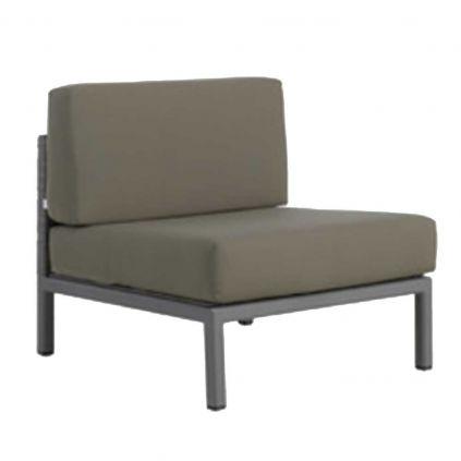 Module fauteuil canapé angle jardin aluminium MONACO 75cm