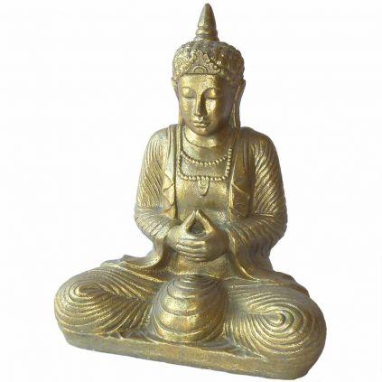 Statue bouddha thaïlandais h80cm BUDDHA GRC doré