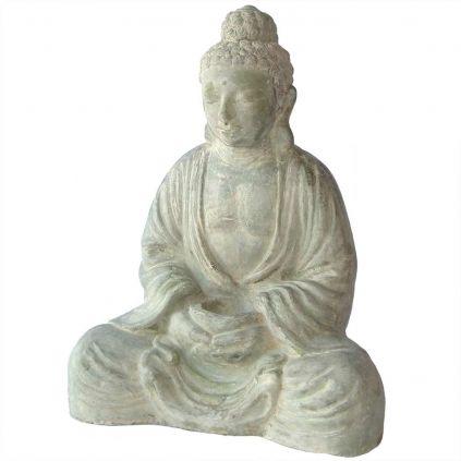 Statue bouddha lotus GRC vert BUDDHA h80cm
