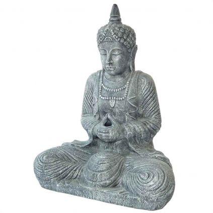 Statue bouddha thaïlandais h80cm BUDDHA GRC noir