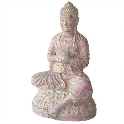 Statue bouddha bol h80cm BUDDHA GRC terra cota
