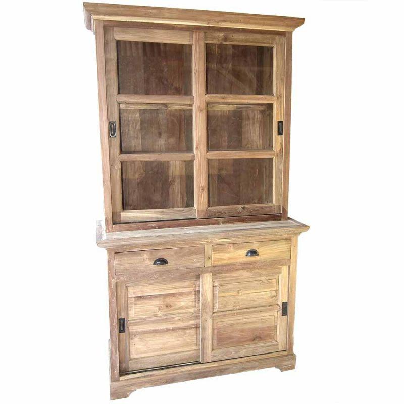 Petit Vaisselier petit vaisselier teck massif recyclé style classique 120cm - meuble