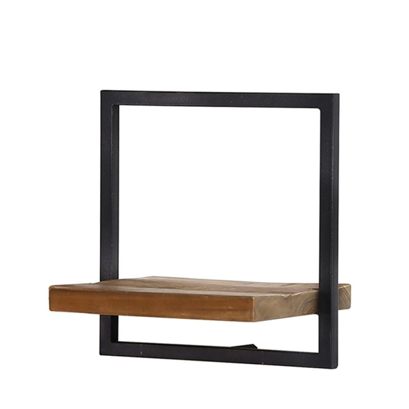 etag re murale shelfmate bois massif et m tal teck et fer recycl s 35cm. Black Bedroom Furniture Sets. Home Design Ideas