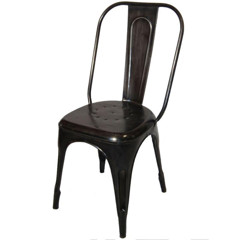 Chaise m tal industrielle 4 couleurs disponibles - Chaise metal couleur ...