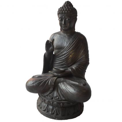 Statue bouddha lotus h120cm BUDDHA GRC noir