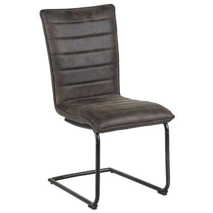 Chaise microfibre et fer SEDIA 46cm grise
