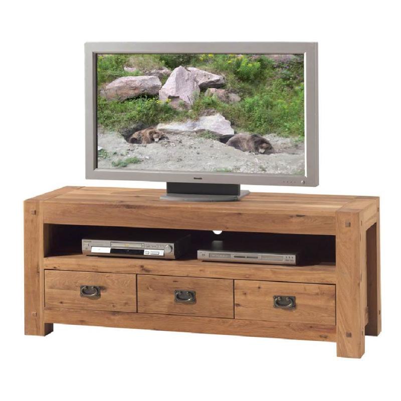 Meuble Tv Chene Massif Huilé Longueur 150cm