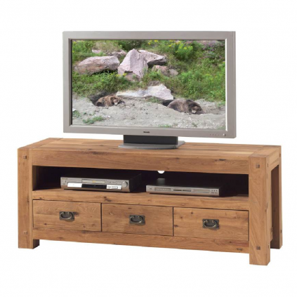 Meuble TV chêne huilé OAKWOOD 150cm