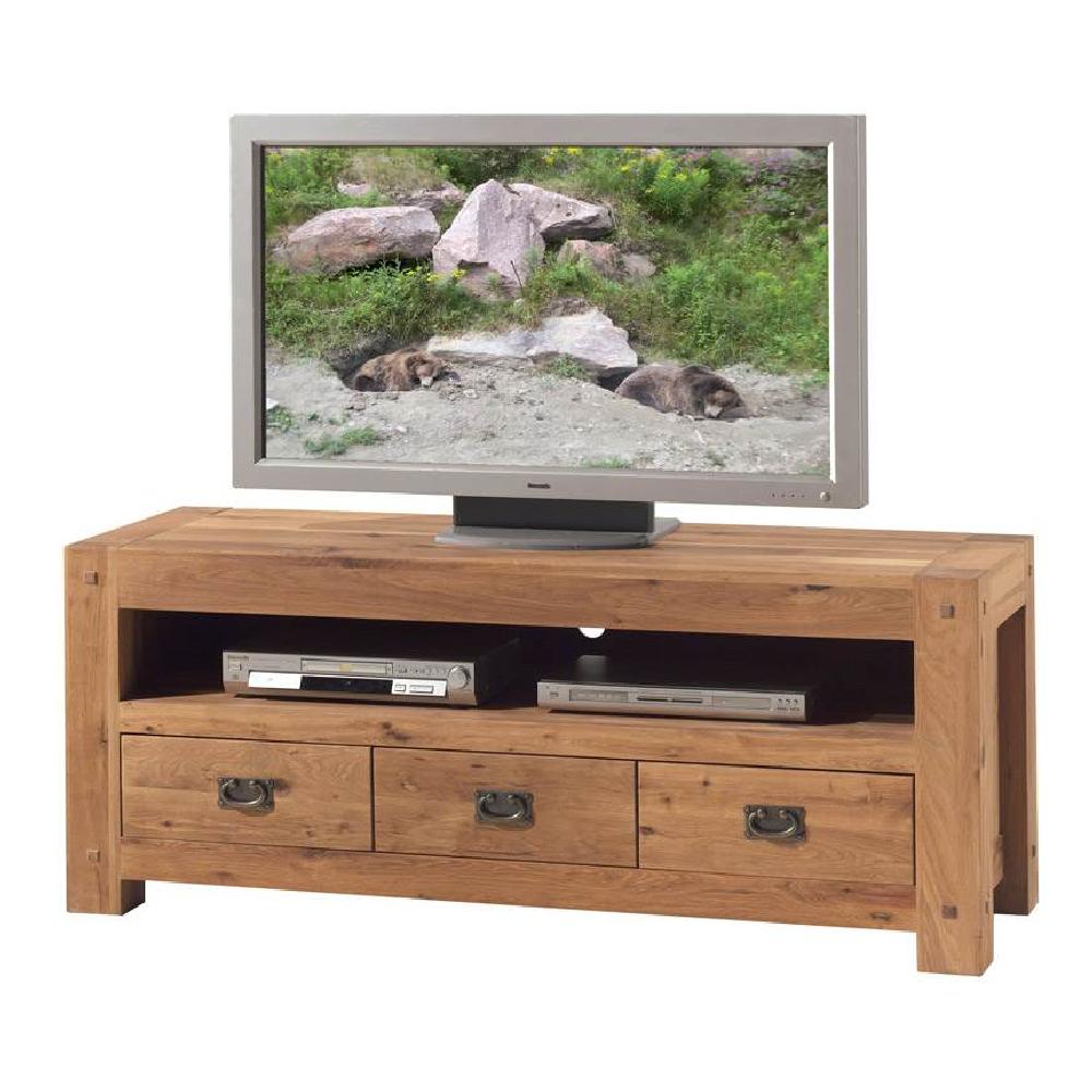 Meuble Tv Chene Massif Huil Longueur 150cm # Meuble Tv En Longueur