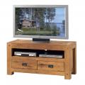 Meuble TV chêne huilé OAKWOOD 120cm