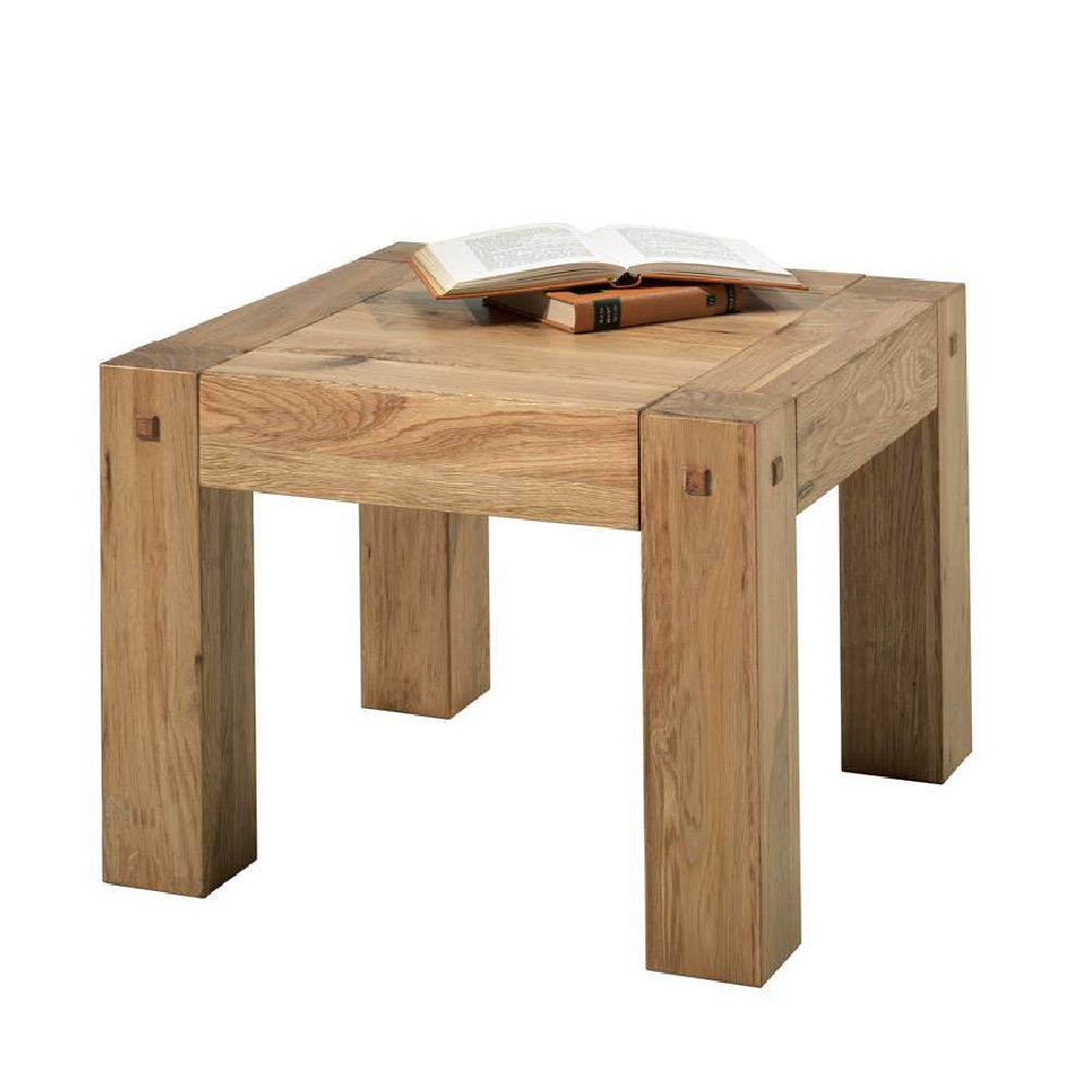 Table basse chene huilé carrée 60cm