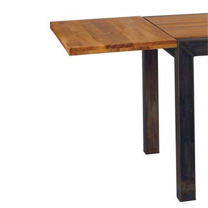 Rallonges table chêne métal LOFT 50cm