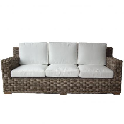 Canapé rotin naturel 3 places RATTAN 210cm