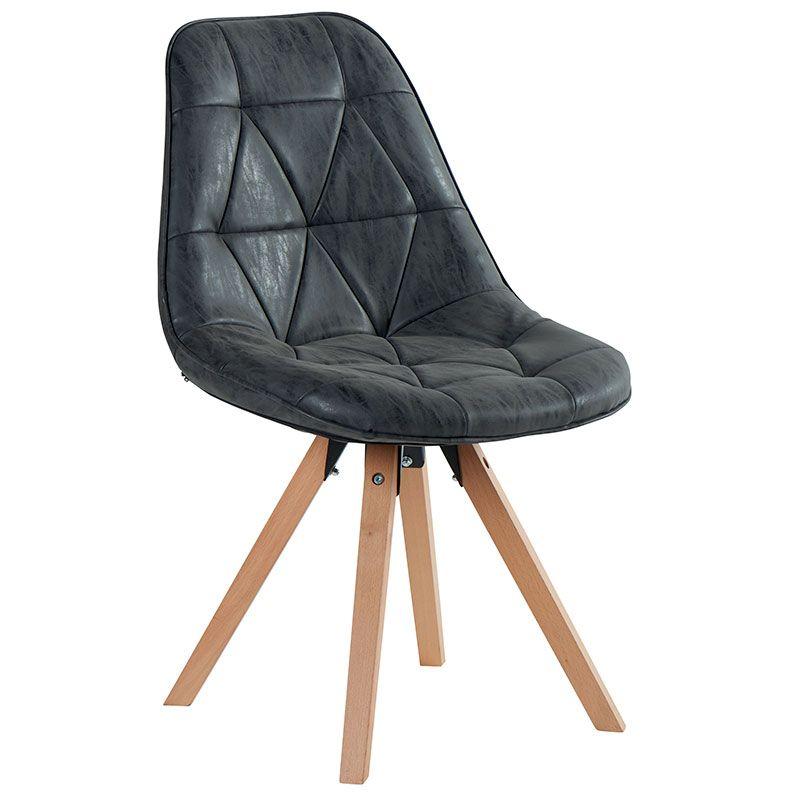 chaise scandinave imitation cuir et pieds en pin massif 5 couleurs - Chaises Scandinaves Couleur