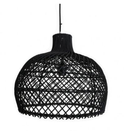Suspension rotin naturel RATTAN noir