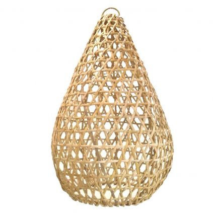Suspension rotin naturel RATTAN ovale