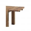 Rallonge table chêne huilé OAKWOOD 50cm