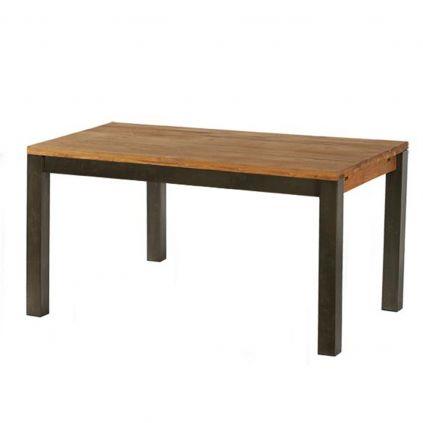 Table industrielle LOFT 180cm chêne et métal