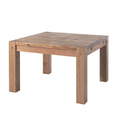 Table carrée chêne massif OAKWOOD 120cm