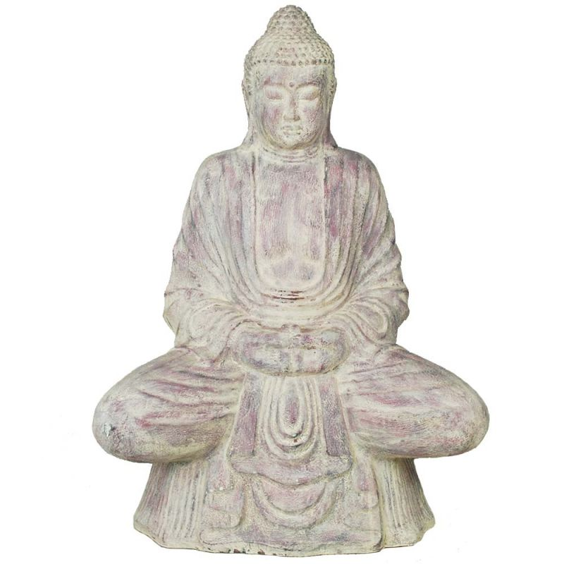 Bouddha Statue Jardin Meditation 110cm Violet