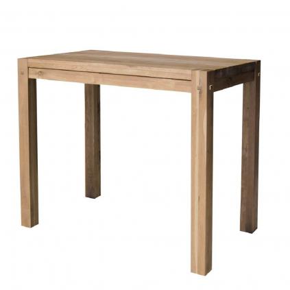 Table haute chêne huilé OAKWOOD 120cm rectangulaire