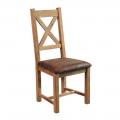 Chaise chêne massif huilé OAKWOOD assise tissu