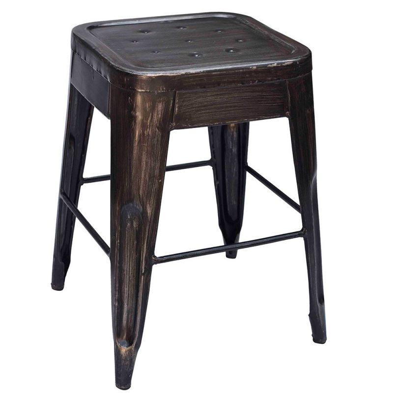 tabouret m tal industriel iron 4 couleurs. Black Bedroom Furniture Sets. Home Design Ideas