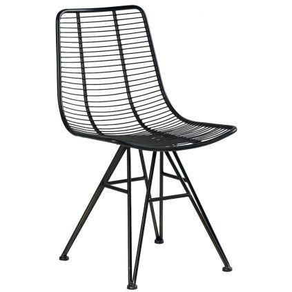 Chaise métal IRON noir