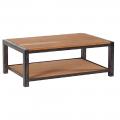 Table basse chêne et métal LOFT rectangulaire 110cm