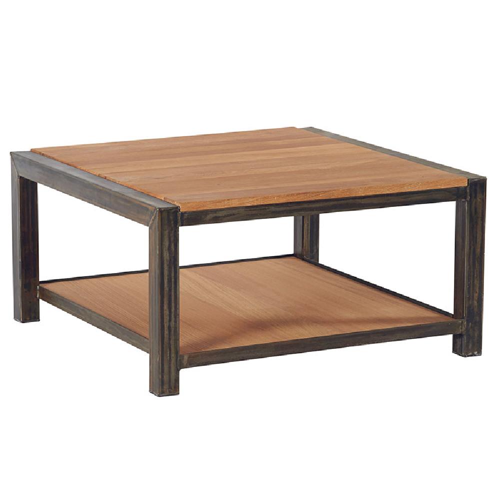 Table Basse Carr E Industrielle Ch Ne Et M Tal Loft 80cm