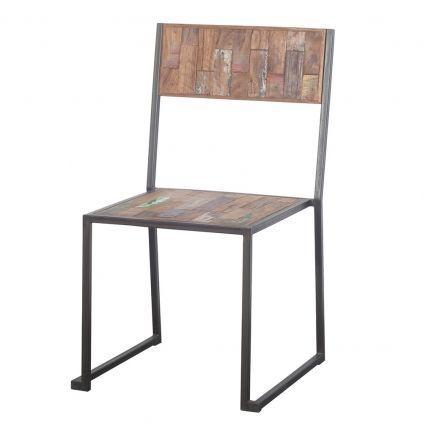 Chaise teck et métal recyclés FERUM