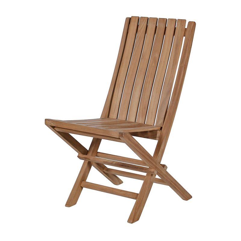 Chaise en teck pliante pour jardin, brute ou huilée, style design