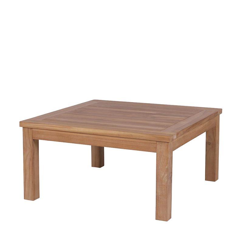 Table basse exterieur bois de teck, carrée 80cm