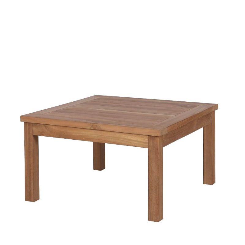 Table Basse Exterieur Bois De Teck Carrée 70cm
