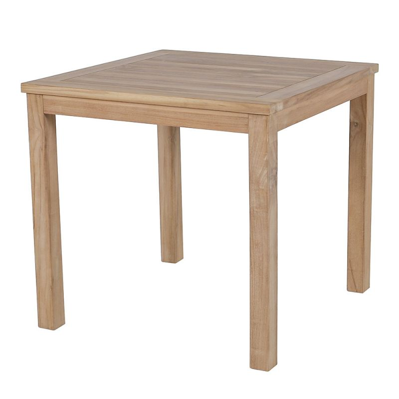 Table teck exterieur carrée 80 x 80 cm | Table balcon teck