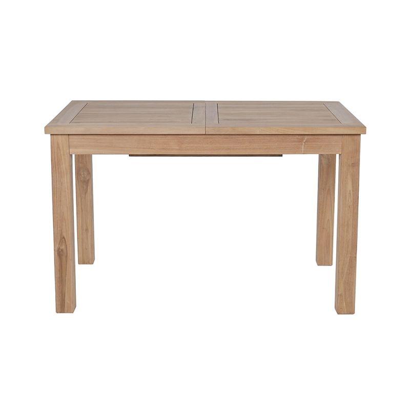 Table teck exterieur extensible rectangulaire 120/180 x 70cm