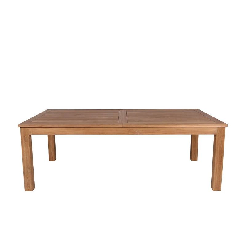 Grande table de jardin en teck massif extensible 220-280cm JATI