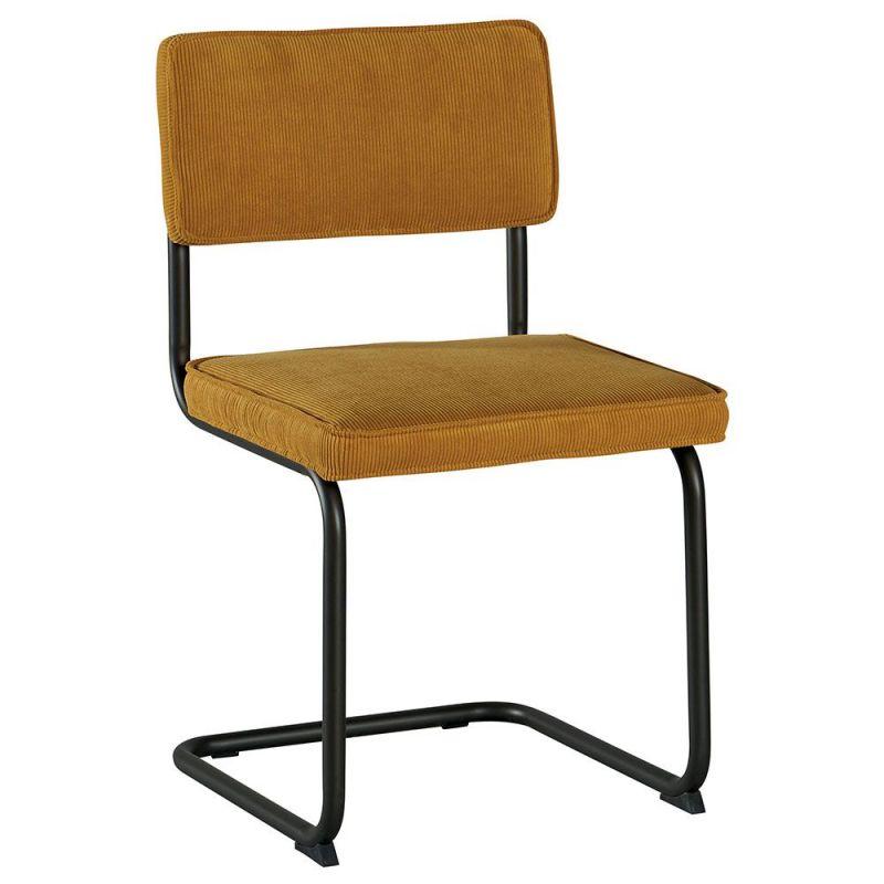 chaise bois metal velous