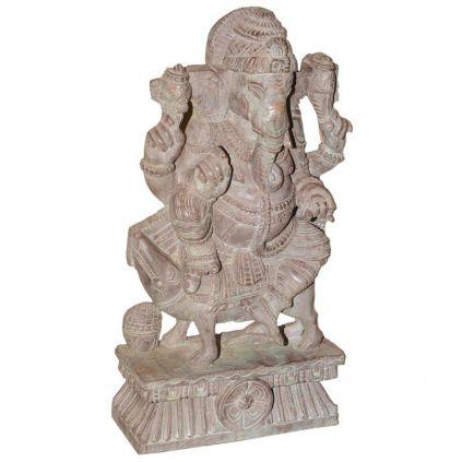 Statuette en bois ancien Ganesh 60cm