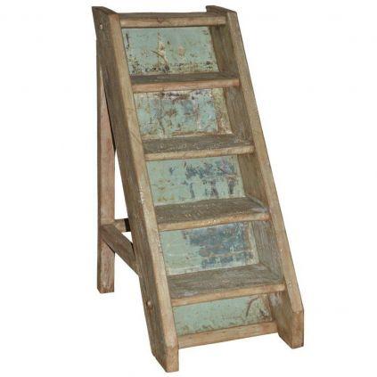 Escalier décoratif vieux bois INDIA 74cm